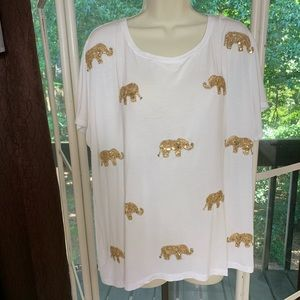 Inc elephant tee shirt 2X